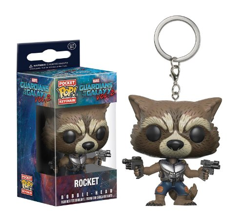 Chaveiro Pocket Pop Marvel Guardioes da Galaxia Rocket