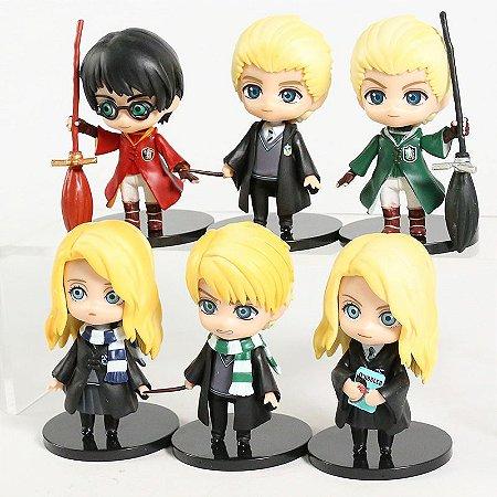 Kit 6 Action Figures Qposket Harry Potter Luna Draco