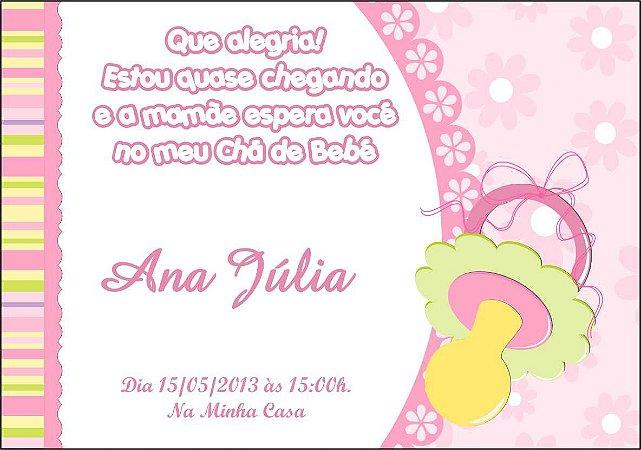 Convite Cha De Fraldas Menina Impressao Expressa