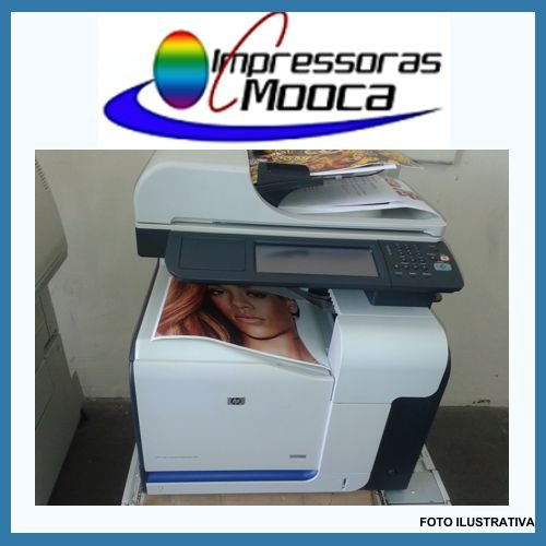 Impressora Multifuncional Laser Color Hp Cm3530fs Mfp 3530 220V