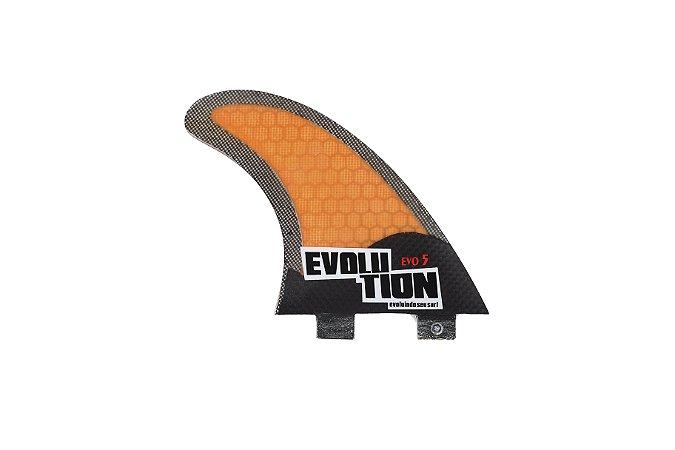 Quilha Modelo Evo Core Carbono - Tamanho Evo 5 - Laranja .