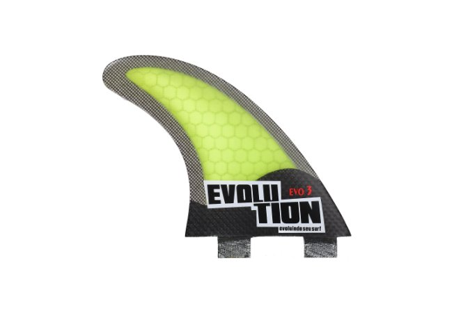 Quilha Modelo Evo Core Carbono - Tamanho Evo 3 - Amarelo.