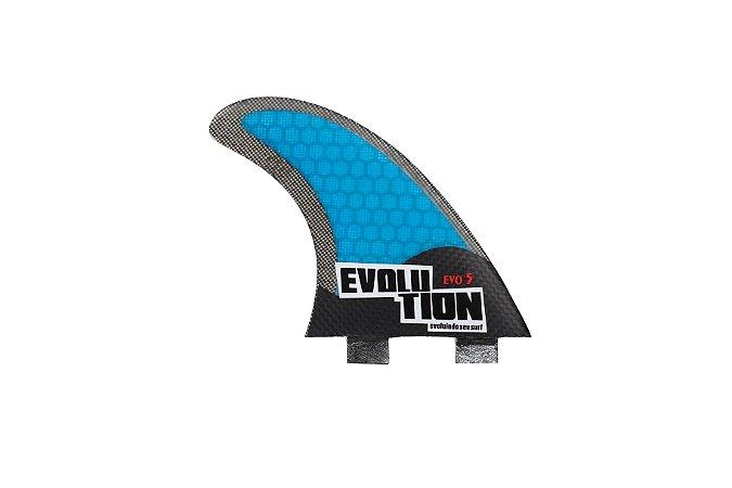 Quilha Modelo Evo Core Carbono - Tamanho Evo 5 - Azul.