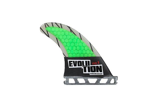 Quilha Modelo Evo Core Carbono - Tamanho Evo 3 - Verde - Single Tab.