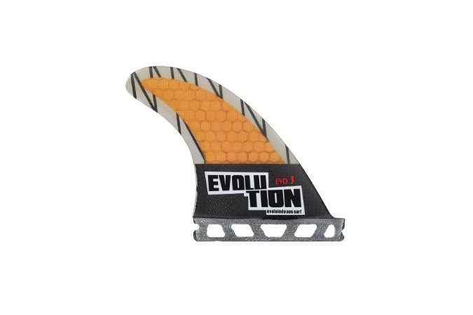 Quilha Modelo Evo Core Carbono - Tamanho Evo 3 - Laranja - Single Tab.