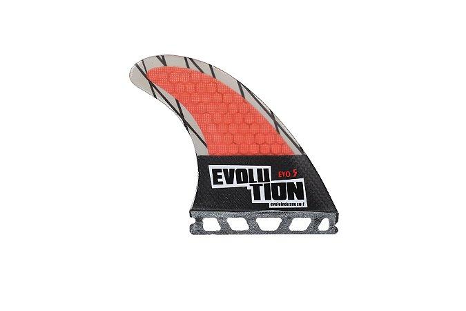 Quilha Modelo Evo Core Carbono - Tamanho Evo 5 -Vermelho - Single tab.