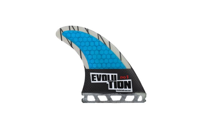 Quilha Modelo Evo Core Carbono - Tamanho Evo 5 - Azul  - Single tab.