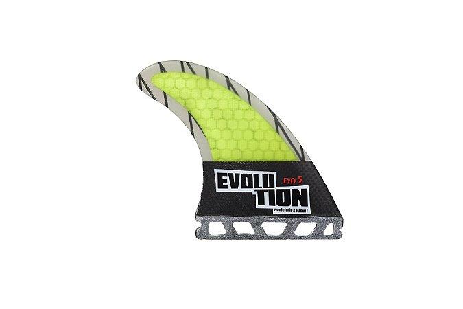 Quilha Modelo Evo Core Carbono - Tamanho Evo 5 - Amarelo  - Single tab.