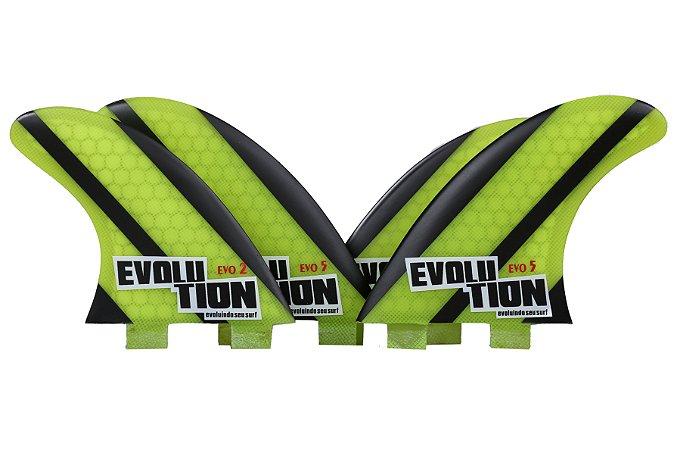 Quilha Modelo Evo Core Quadri - Tamanho Evo 5 / Evo 2 - Amarelo.