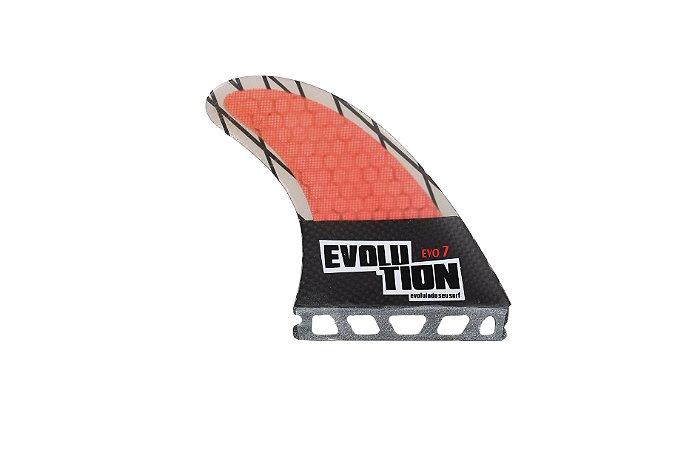 Quilha Modelo Evo Core Carbono - Tamanho Evo 7 -Vermelho - Single tab.