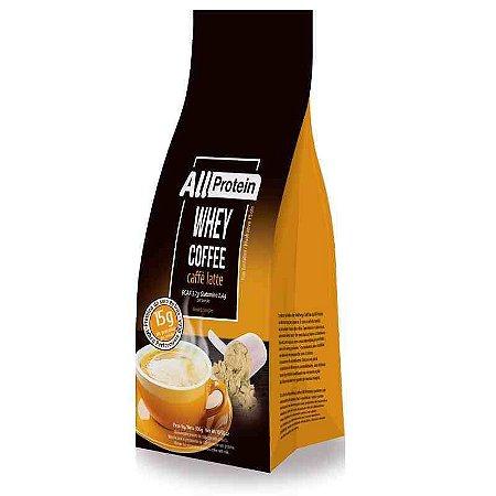 Pacote de 300g de Whey Coffee - Café proteico CAFFÈ LATTE 15g de proteina de whey protein com BCAA e Glutamina por dose - All Protein