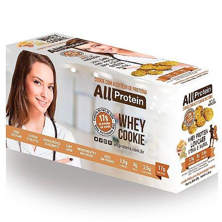 Cookie proteico de Pasta de Amendoim com 17g de proteina de whey protein com BCAA e Glutamina - All Protein 8 unidades de 40g - 320g