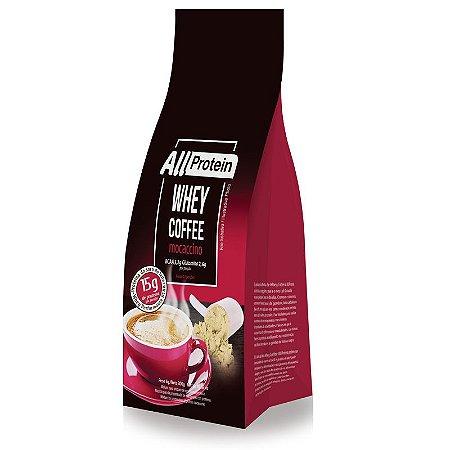 1 Pacote de Whey Coffee - Café proteico MOCACCINO com whey protein - All Protein - 12 doses - 300g