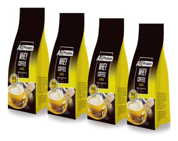 4 Pacotes de Coffee Vanilla 1200g (48 doses) - All Protein