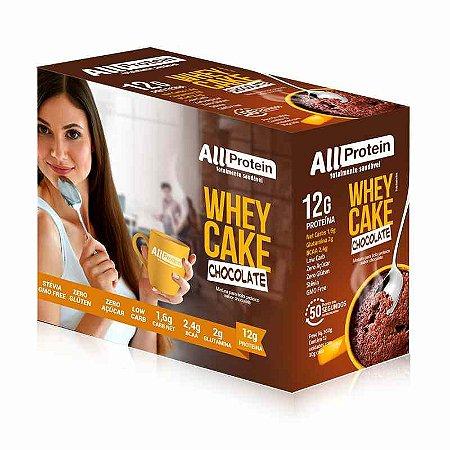 1 Caixa Whey Cake de Chocolate All Protein - 12 Saches de 30g - 360g