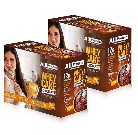 2 Caixas Whey CAKE de CHOCOLATE com whey protein - All Protein - 24 Saches de 30g - 720g