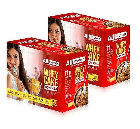 2 Caixas Whey Cake de Maçã com Canela All Protein - 24 Saches de 30g - 720g