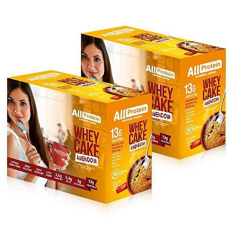 2 Caixas Whey CAKE de AMENDOIM com whey protein - All Protein - 24 Saches de 30g - 720g