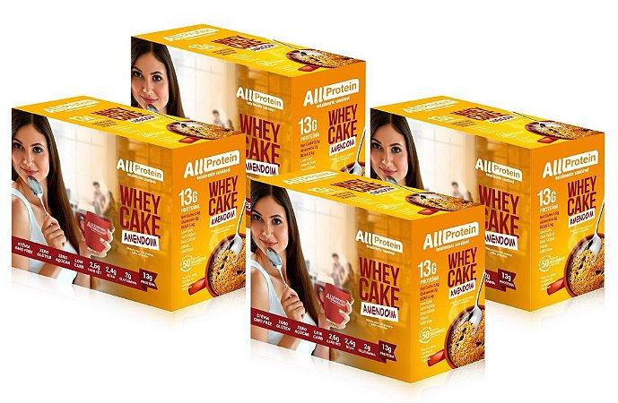 4 Caixas de Whey Cake de Amendoim All Protein - 48 Saches de 30g - 1440g