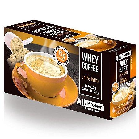 1 Caixa de Whey Coffee Café proteico Caffè Latte 625g (25 doses) - All Protein