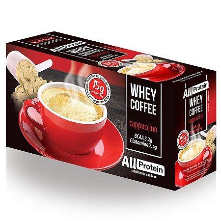 1 Caixa de Whey Coffee - Café proteico CAPPUCCINO com whey protein - All Protein - 25 doses - 625g