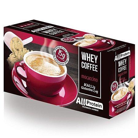 1 Caixa de Whey Coffee - Café proteico Mocaccino 625g (25 doses) - All Protein