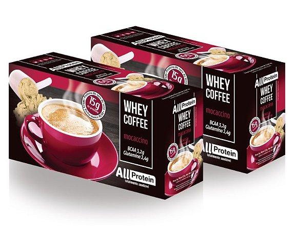 2 Caixas de Whey Coffee - Café proteico MOCACCINO com whey protein - All Protein - 50 doses - 1250g