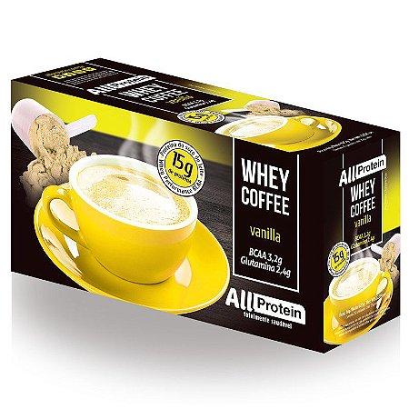 1 Caixa de Whey Coffee - Café proteico Vanilla 625g (25 doses) - All Protein