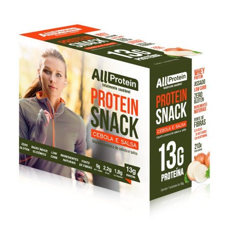 1 Caixa de Snack Protein Cebola e Salsa All Protein 7 unidades de 30g - 210g