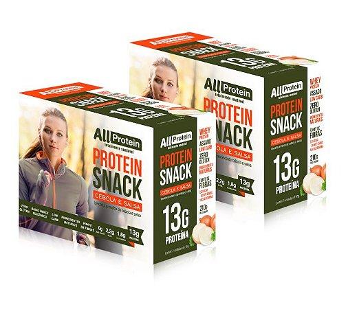 2 Caixas de Snack Protein Cebola e Salsa All Protein 14 unidades de 30g - 420g