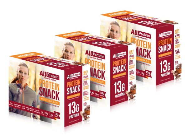 3 Caixas de Snack Protein MultiGrãos All Protein 21 unidades de 30g - 630g