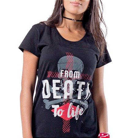 Camiseta Longline Fem Da Morte para Vida