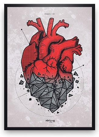 Quadro Coração de Pedra