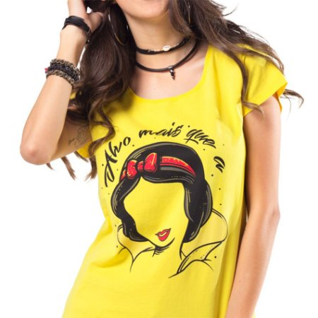 Camiseta feminina Alvo mais que a neve