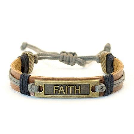Pulseira de couro Faith