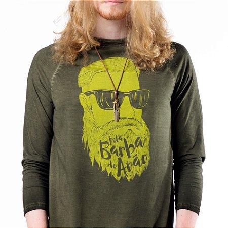 Camiseta raglan 3/4 Barba de Arão