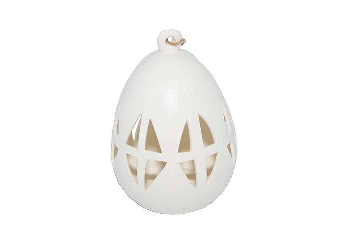 Luminária Branca com LED Pendente Ninho Médio