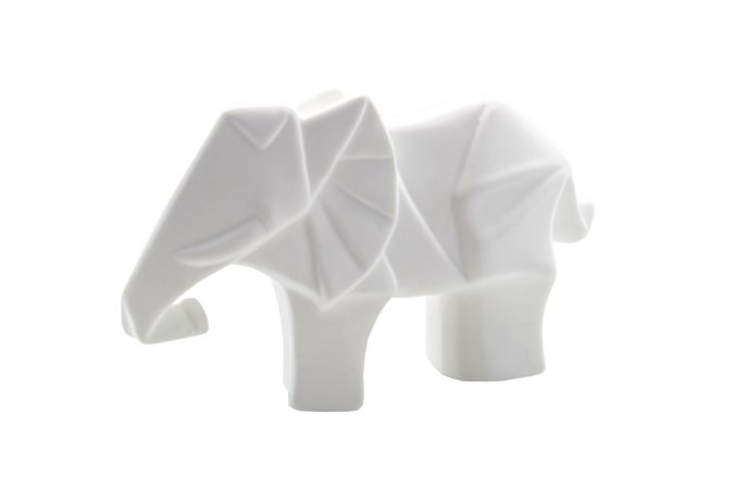 Escultura Decorativa Elefante Geométrico Pequeno