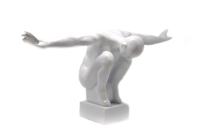 Escultura Decoração Branca The Man