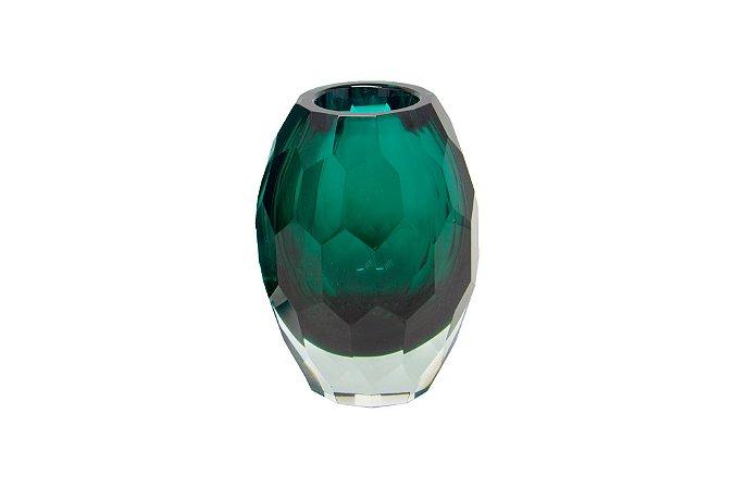 Vaso Decorativo Verde Geométrico Pequeno