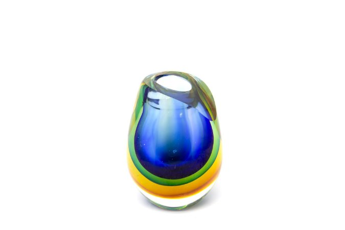 Vaso Decorativo  Cristal Gota Tricolor Pequeno