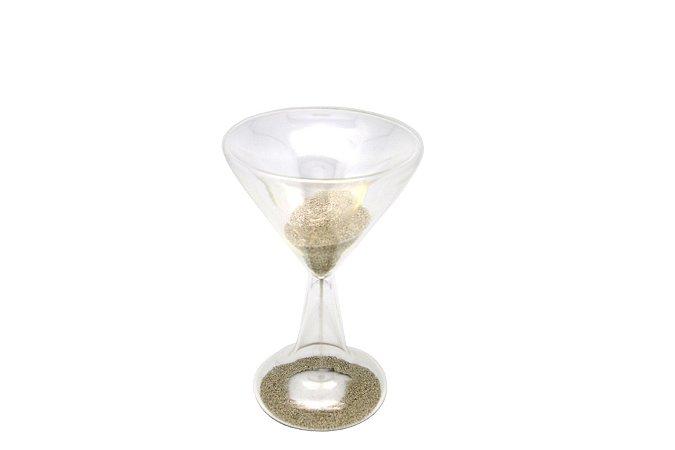 Ampulheta Decorativa Taça Prata