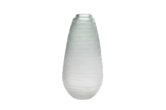 Vaso Decorativo Cinza Ondas Negras