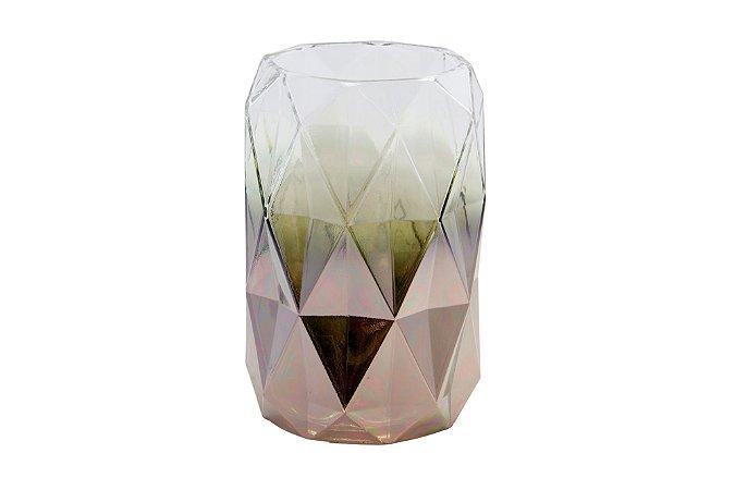 Vaso Decorativo Rosê Geométrico Médio