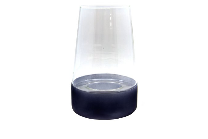 Vaso Decorativo e Porta Vela de Vidro
