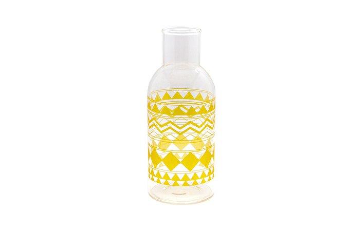Vaso Decorativo Amarelo Étnico Pequeno