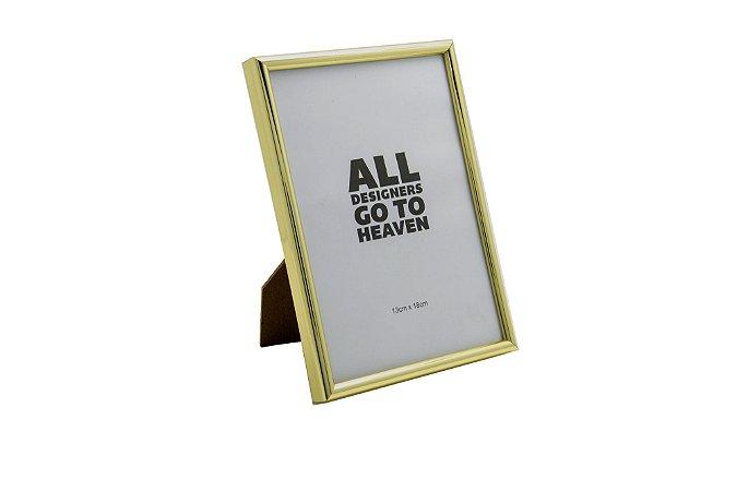 Porta Retrato Dourado Pequeno