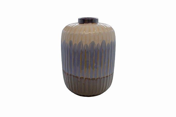 Vaso Decorativo Azul Corten Médio