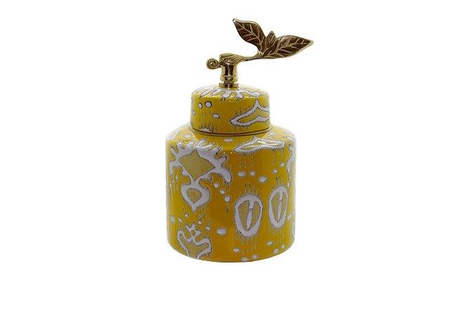 Pote Decorativo Amarelo Inca Pequeno
