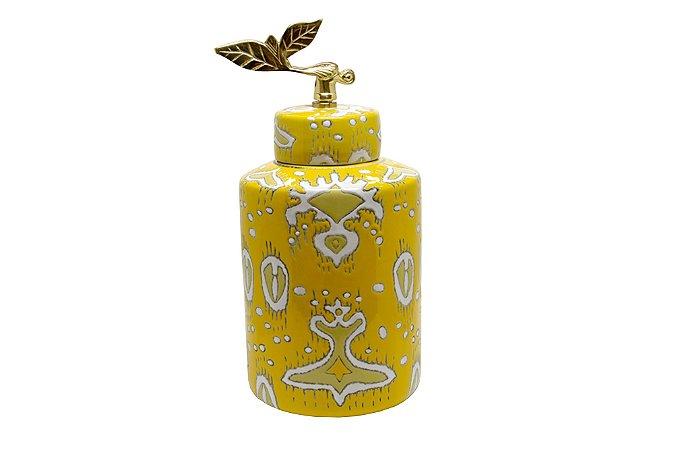 Pote Decorativo Amarelo Inca Grande